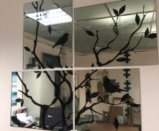 Зеркальное панно 1