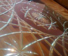 Алмазная гравировка на стекле 7
