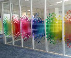Декоративная пленка на стекло 13